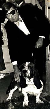 [Photo of Warren Hinkle  and pooch Bentley]