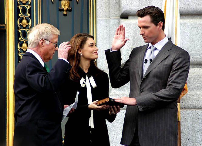 The Inauguration Of Mayor Gavin Newsom