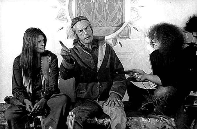 Photo- Rosemary and Timothy Leary, Barbara Mauritz and Scoop Nisker ~ 1969 Press Conference - Runs for Governor of California