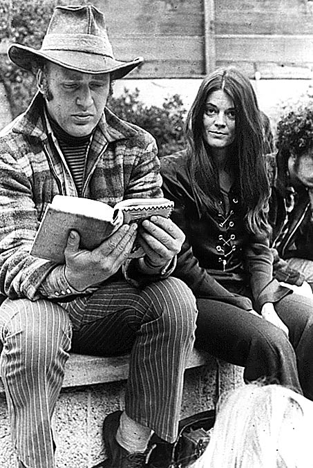 Photo- Ken Kesey and Rosemary Leary ~ 1970 Reading the I-Ching at the Family Dog in San Francisco